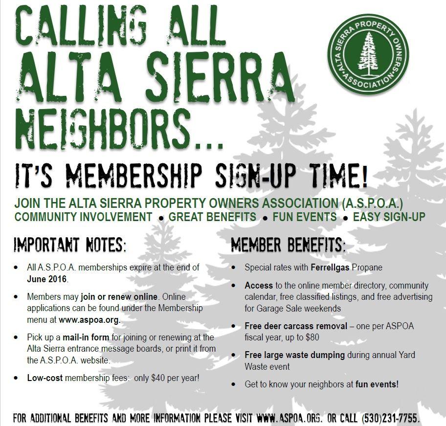 Alta Sierra Property Owners Association